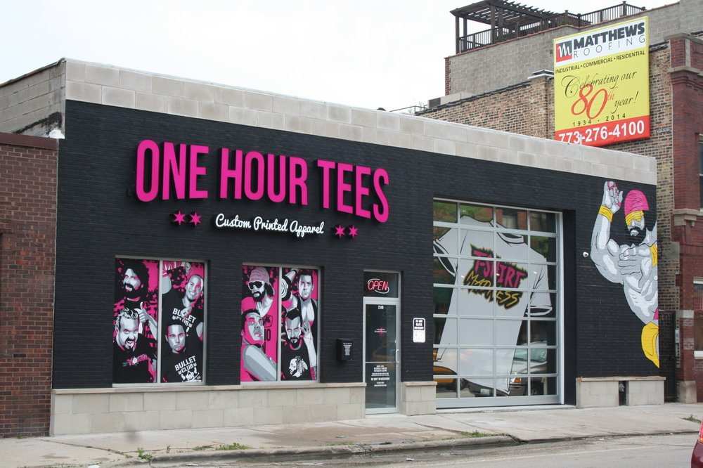 one hour tees store