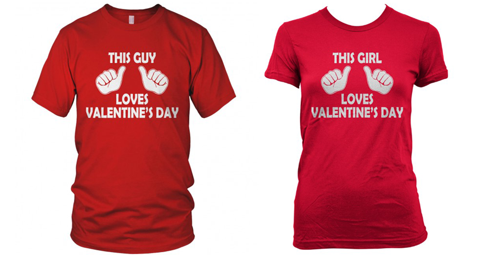 Valentines Day Custom T-shirts, couple shirts