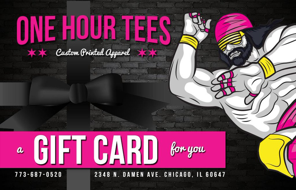 one hour tees gift cards